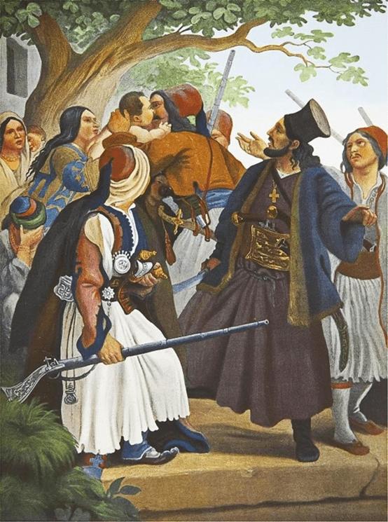 Α.Διάκος ,πίνακας του Εσς στη στοά του Μονάχου.